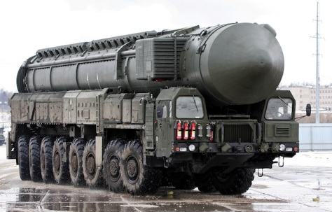 A Russian mobile nuclear intercontinental ballistic missile launcher. Russia has developed a new generation of tactical nuclear weapons and missile delivery systems, very disturbing given the dismal state of our own nuclear weapons programs. Moscow has also been deploying small, ground-based nuclear weapons close to the borders of our eastern-most NATO allies.