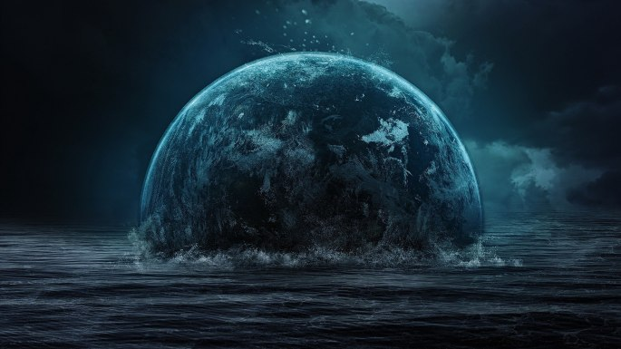 Space_The_earth_is_immersed_in_water_094818_