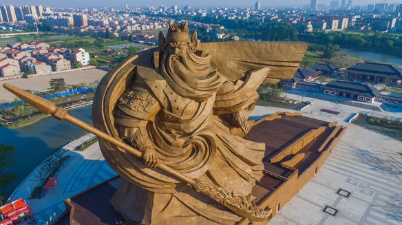 Recent Giant war god of China revealed. http://www.boredpanda.com/giant-war-god-statue-general-guan-yu-sculpture-china/